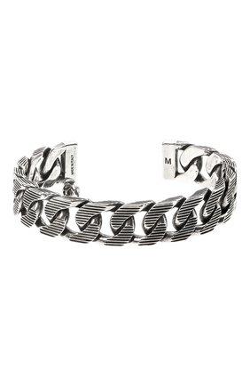 Мужской браслет ALEXANDER MCQUEEN серебряного цвета, арт. 634063/J160Y | Фото 1