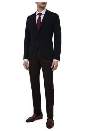 Мужские кожаные лоферы SANTONI коричневого цвета, арт. MCNC16848SA3EMPHR52 | Фото 2 (Материал внутренний: Натуральная кожа; Стили: Классический)