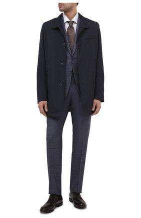 Мужские кожаные дерби W.GIBBS темно-коричневого цвета, арт. 0337005/1362 | Фото 2 (Материал внутренний: Натуральная кожа; Стили: Классический; Мужское Кросс-КТ: Броги-обувь)