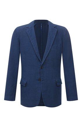 Мужской льняной пиджак 120% LINO темно-синего цвета, арт. T0M8469/0253/000 | Фото 1