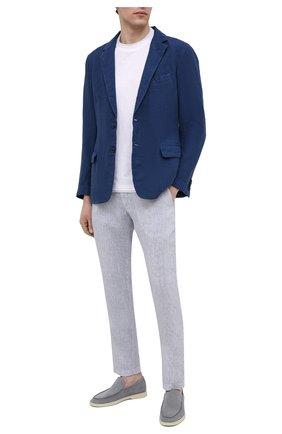 Мужской льняной пиджак 120% LINO темно-синего цвета, арт. T0M8469/0253/000 | Фото 2