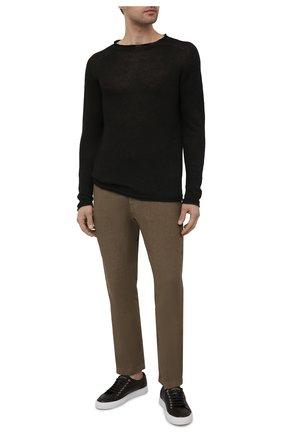 Мужской льняной свитер 120% LINO темно-серого цвета, арт. T0M35AC/F966/S00   Фото 2