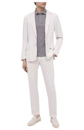 Мужские льняные брюки 120% LINO белого цвета, арт. T0M299M/0253/000 | Фото 2