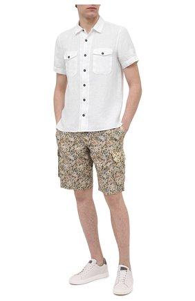 Мужские льняные шорты 120% LINO разноцветного цвета, арт. T0M2426/F935/S00 | Фото 2