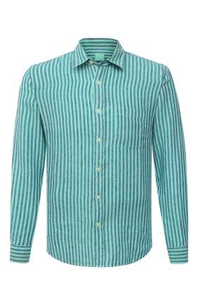 Мужская льняная рубашка 120% LINO зеленого цвета, арт. T0M1425/F945/000 | Фото 1