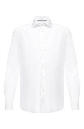 Мужская хлопковая сорочка ETON белого цвета, арт. 1000 01285 | Фото 1 (Материал внешний: Хлопок; Длина (для топов): Стандартные; Рукава: Длинные; Случай: Формальный; Стили: Классический; Рубашки М: Slim Fit; Принт: Полоска)