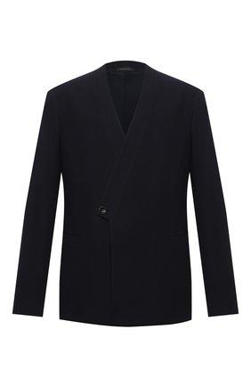 Мужской шерстяной пиджак GIORGIO ARMANI темно-синего цвета, арт. 1SGGG0LP/T02EN | Фото 1