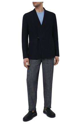 Мужской шерстяной пиджак GIORGIO ARMANI темно-синего цвета, арт. 1SGGG0LP/T02EN | Фото 2