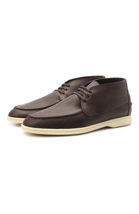 Кожаные ботинки Sailing Walk | Фото №1