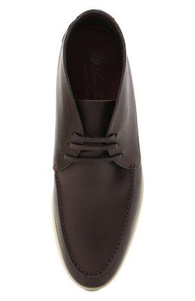 Мужские кожаные ботинки sailing walk LORO PIANA темно-коричневого цвета, арт. FAL6183 | Фото 5