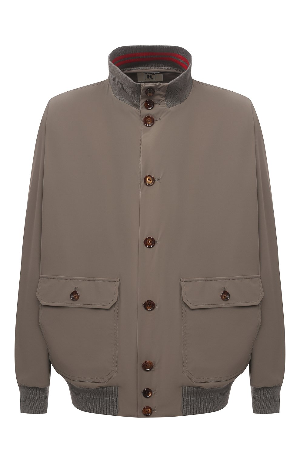 Мужской бомбер KIRED хаки цвета, арт. WSERGI0W6905011001/64-74 | Фото 1 (Кросс-КТ: Куртка; Big sizes: Big Sizes; Рукава: Длинные; Принт: Без принта; Материал внешний: Синтетический материал; Длина (верхняя одежда): Короткие; Стили: Кэжуэл)