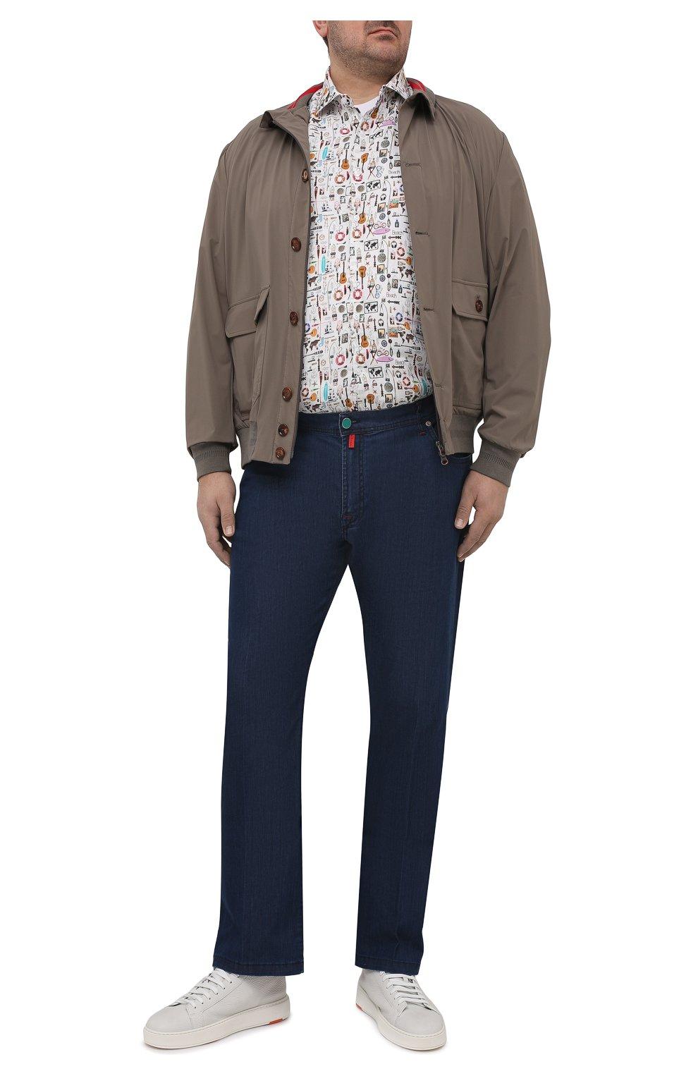 Мужской бомбер KIRED хаки цвета, арт. WSERGI0W6905011001/64-74 | Фото 2 (Кросс-КТ: Куртка; Big sizes: Big Sizes; Рукава: Длинные; Принт: Без принта; Материал внешний: Синтетический материал; Длина (верхняя одежда): Короткие; Стили: Кэжуэл)
