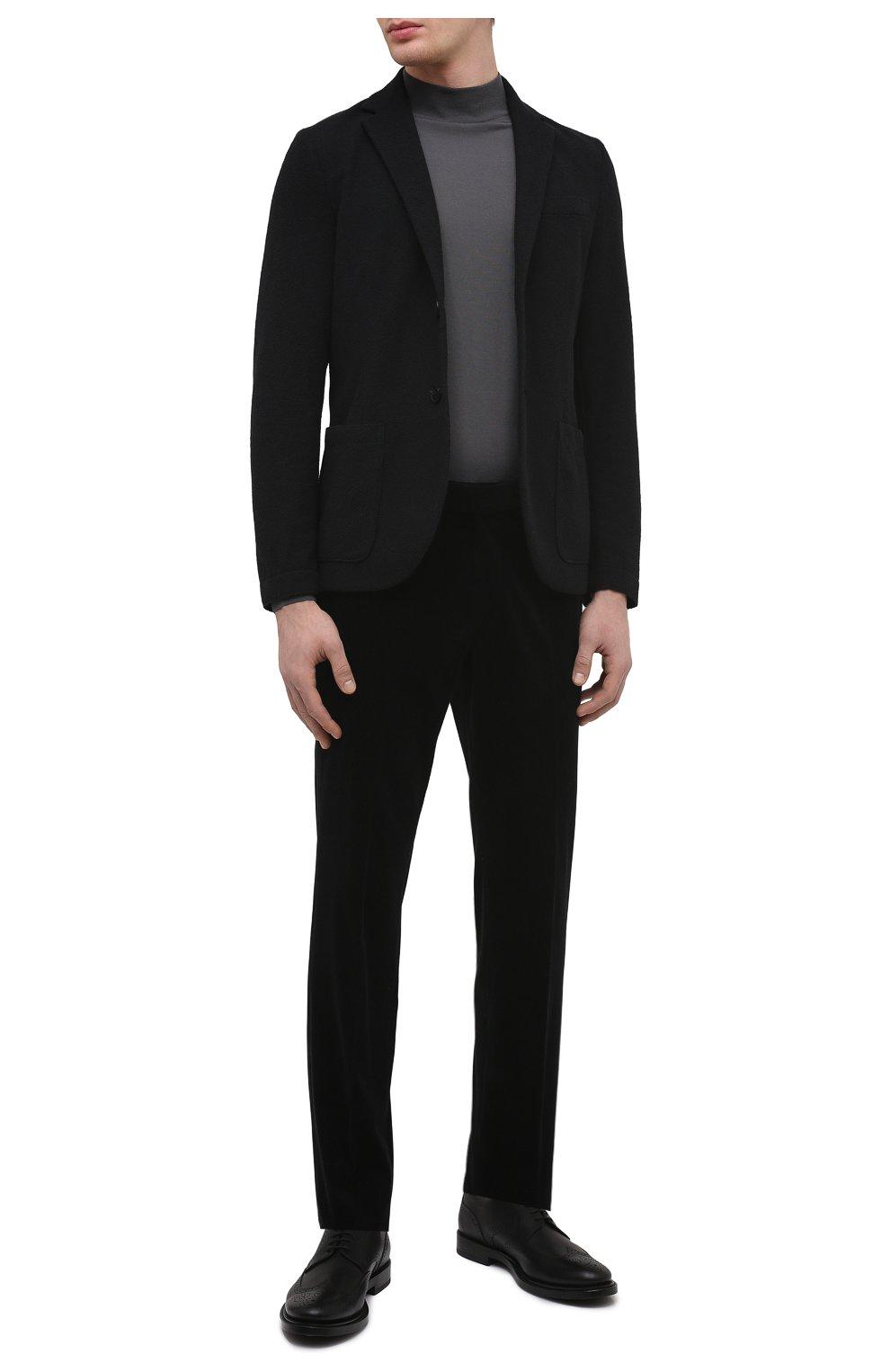 Мужские кожаные дерби TOD'S черного цвета, арт. XXM62C00C100LW   Фото 2 (Мужское Кросс-КТ: Броги-обувь; Материал внутренний: Натуральная кожа; Стили: Классический)