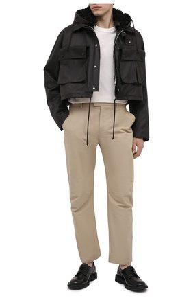 Мужская куртка с меховой подкладкой BOTTEGA VENETA темно-коричневого цвета, арт. 648105/V04C0 | Фото 2 (Материал внешний: Хлопок; Рукава: Длинные; Длина (верхняя одежда): Короткие; Материал утеплителя: Натуральный мех; Мужское Кросс-КТ: утепленные куртки; Кросс-КТ: Куртка; Стили: Минимализм)