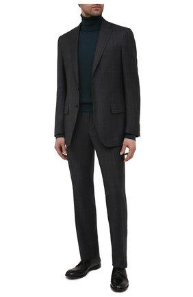 Мужские кожаные дерби michelangelo DOLCE & GABBANA черного цвета, арт. A10666/A1828   Фото 2 (Материал внутренний: Натуральная кожа; Стили: Классический)