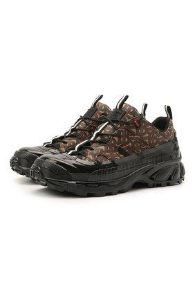Мужские комбинированные кроссовки arthur BURBERRY коричневого цвета, арт. 8021778 | Фото 1 (Подошва: Массивная; Материал внутренний: Натуральная кожа, Текстиль; Материал внешний: Экокожа)