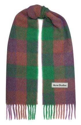 Женский шарф ACNE STUDIOS разноцветного цвета, арт. CA0084/W   Фото 1