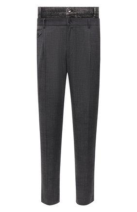 Мужские брюки из хлопка и шерсти DOLCE & GABBANA серого цвета, арт. GWGKXT/GEQ09 | Фото 1