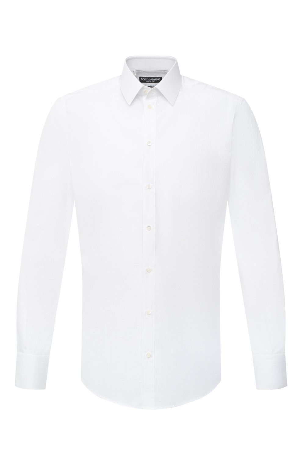 Мужская хлопковая сорочка DOLCE & GABBANA белого цвета, арт. G5EJ1T/FR5YB   Фото 1
