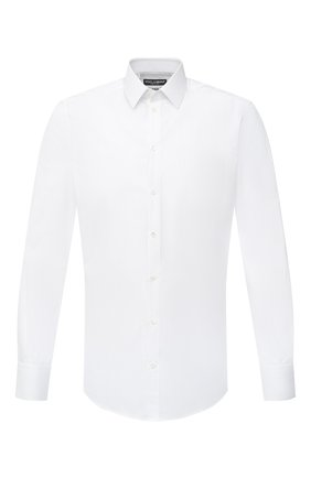 Мужская хлопковая сорочка DOLCE & GABBANA белого цвета, арт. G5EJ1T/FR5YB | Фото 1