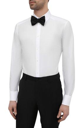 Мужская хлопковая сорочка DOLCE & GABBANA белого цвета, арт. G5EJ1T/FR5YB   Фото 4