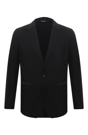 Пиджак из хлопка и шерсти | Фото №1