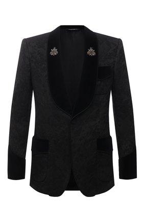 Мужской пиджак DOLCE & GABBANA черного цвета, арт. G2003Z/FJRD9   Фото 1