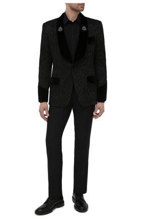 Мужской пиджак DOLCE & GABBANA черного цвета, арт. G2003Z/FJRD9   Фото 2