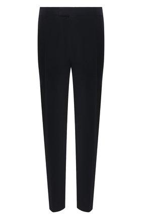 Мужские шерстяные брюки WINDSOR темно-синего цвета, арт. 13 RAN0-U 10001843/60-66 | Фото 1 (Материал подклада: Вискоза; Длина (брюки, джинсы): Стандартные; Материал внешний: Шерсть; Случай: Формальный; Стили: Классический; Big sizes: Big Sizes)