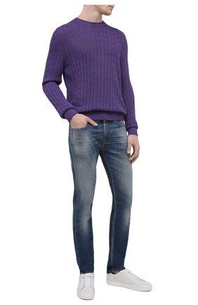 Мужские джинсы 7 FOR ALL MANKIND синего цвета, арт. JSD4K850AS | Фото 2