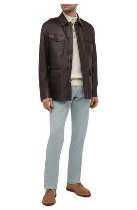 Мужская кожаная куртка RALPH LAUREN темно-коричневого цвета, арт. 790824826 | Фото 2