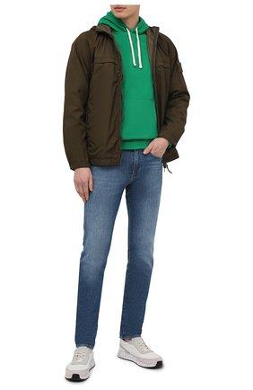 Мужской худи POLO RALPH LAUREN зеленого цвета, арт. 710766778 | Фото 2 (Длина (для топов): Стандартные; Материал внешний: Хлопок, Синтетический материал; Рукава: Длинные; Мужское Кросс-КТ: Худи-одежда; Принт: Без принта; Стили: Спорт-шик)