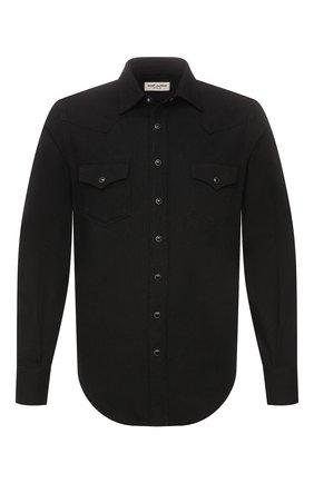 Мужская джинсовая рубашка SAINT LAURENT черного цвета, арт. 597059/YM881 | Фото 1