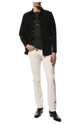 Мужская джинсовая рубашка SAINT LAURENT черного цвета, арт. 597059/YM881 | Фото 2