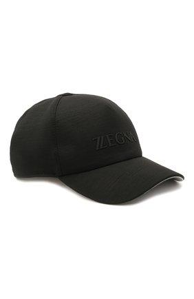 Мужской шерстяная бейсболка Z ZEGNA черного цвета, арт. Z9I71/B9I | Фото 1