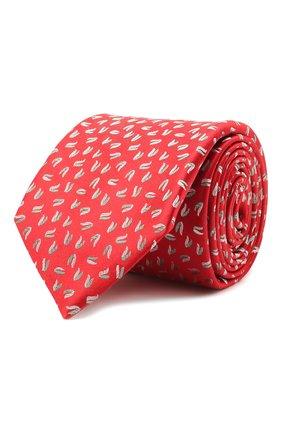 Мужской шелковый галстук ZILLI красного цвета, арт. 51300/TIE   Фото 1 (Материал: Шелк, Текстиль; Принт: С принтом)