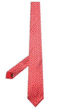 Мужской шелковый галстук ZILLI красного цвета, арт. 51300/TIE   Фото 2 (Материал: Шелк, Текстиль; Принт: С принтом)