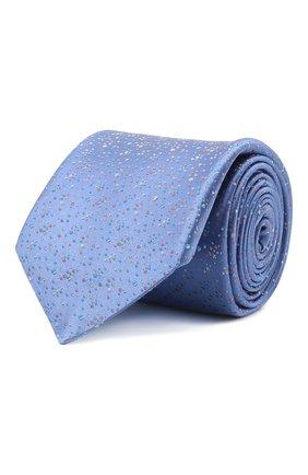 Мужской шелковый галстук ZILLI синего цвета, арт. 51303/TIE   Фото 1