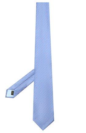 Мужской шелковый галстук ZILLI синего цвета, арт. 51303/TIE   Фото 2