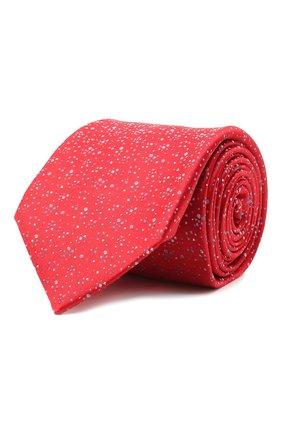 Мужской шелковый галстук ZILLI красного цвета, арт. 51303/TIE   Фото 1