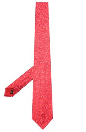 Мужской шелковый галстук ZILLI красного цвета, арт. 51303/TIE   Фото 2
