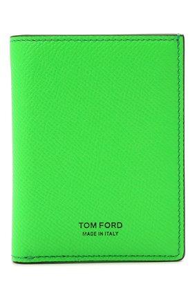 Мужской кожаный футляр для кредитных карт TOM FORD зеленого цвета, арт. Y0279T-LCL143 | Фото 1
