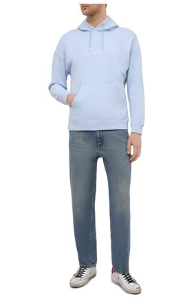 Мужские кожаные кеды superstar GOLDEN GOOSE DELUXE BRAND белого цвета, арт. GMF00101.F000348 | Фото 2 (Подошва: Плоская; Материал внутренний: Натуральная кожа)