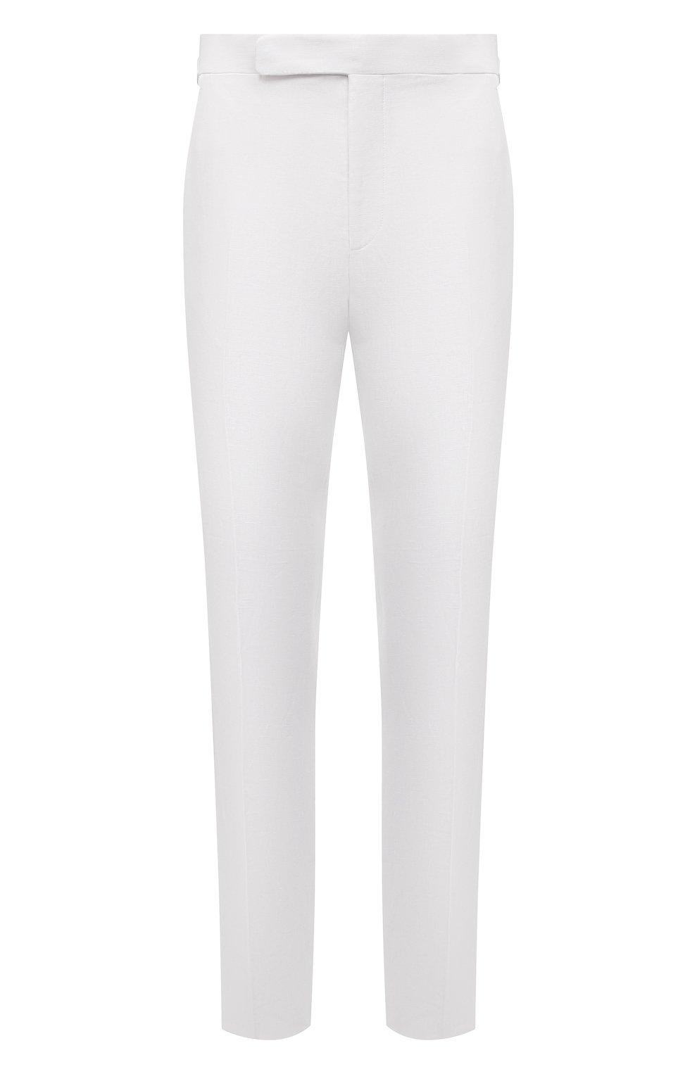Мужские льняные брюки RALPH LAUREN белого цвета, арт. 798830244 | Фото 1