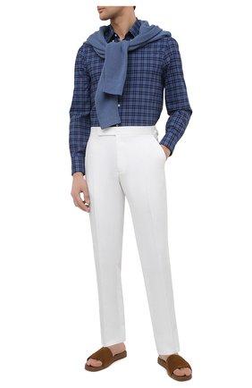 Мужские льняные брюки RALPH LAUREN белого цвета, арт. 798830244 | Фото 2