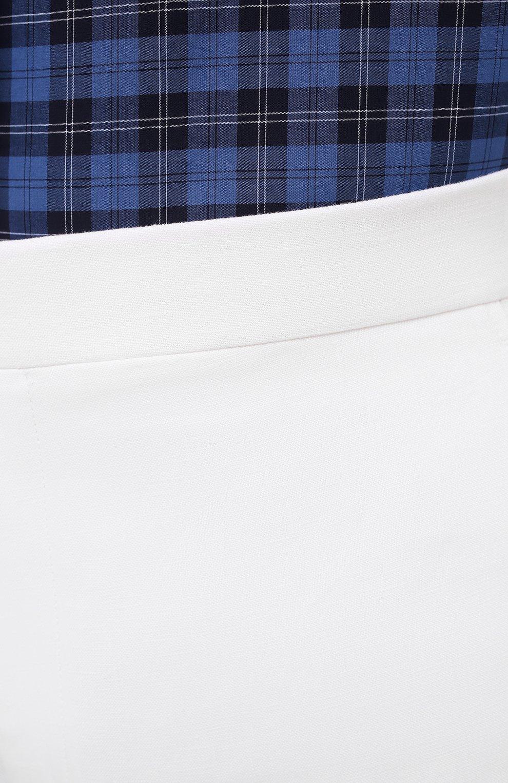 Мужские льняные брюки RALPH LAUREN белого цвета, арт. 798830244 | Фото 5