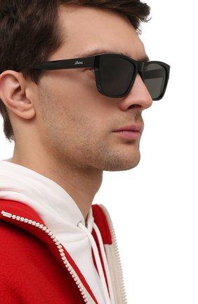 Мужские солнцезащитные очки BRIONI черного цвета, арт. 0DC600/P3ZAC | Фото 2