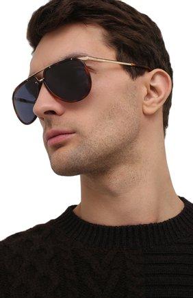 Мужские солнцезащитные очки BRIONI коричневого цвета, арт. 0DC900/P3ZAC | Фото 2