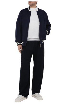 Мужские хлопковые брюки KITON темно-синего цвета, арт. UK1051L | Фото 2