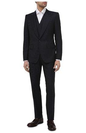 Мужские кожаные дерби michelangelo DOLCE & GABBANA бордового цвета, арт. A10665/A1828   Фото 2 (Материал внутренний: Натуральная кожа; Стили: Классический; Мужское Кросс-КТ: Броги-обувь)